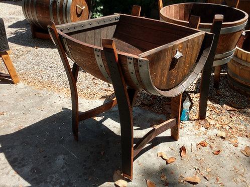 Horizontal Half Wine Barrel Ice Cooler for Beverages