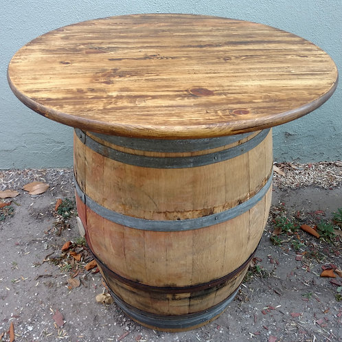 "36"" Round Tabletop - bartop coated pine"