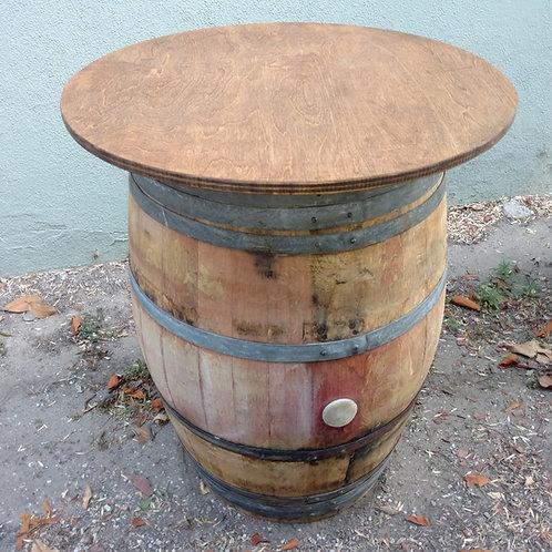"""30"""" Round Tabletop - rustic oak veneer"""