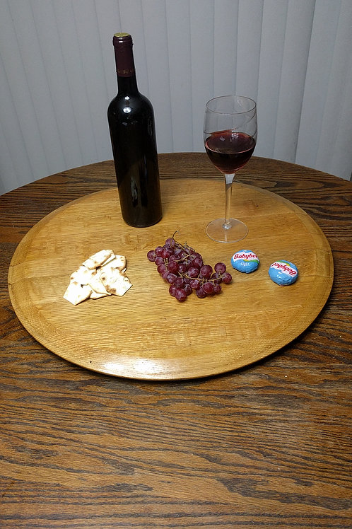 Wine Barrel Head Lazy Susan