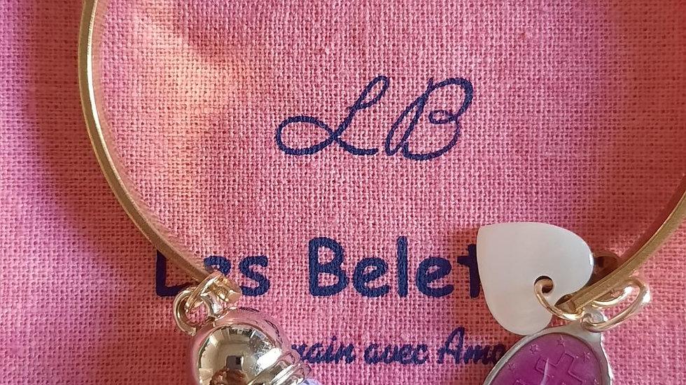 Bracelet laiton brut