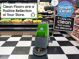 """Brand New 18"""" Floor Scrubber Is Making Its Way Into The Grocery Store Market With Huge Success"""