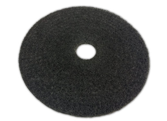 "18"" Heavy Duty Black Pad (Case of 5)"