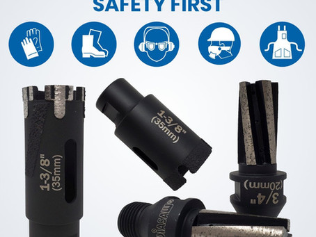 Safety Instruction - Core Drill Bits