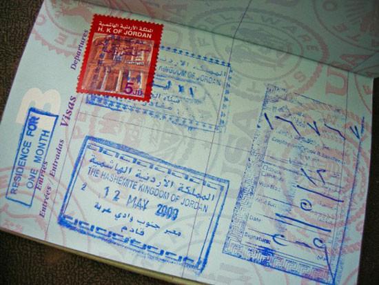 تأشيرة الدخول إلى الأردن
