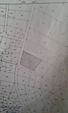 ارض للبيع في منطقة الوسيه /الكرك مساحتها 1302 تقع على الشارع