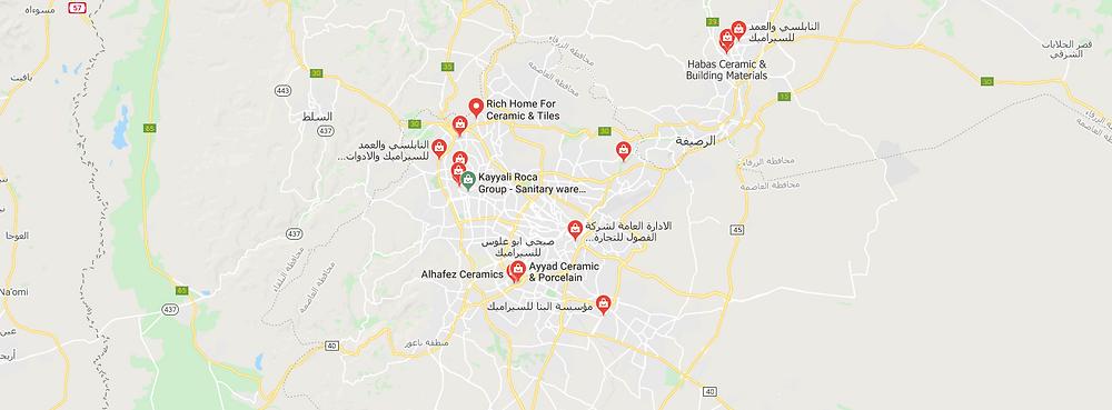 محلات تبيع البلاط السيراميك في الأردن