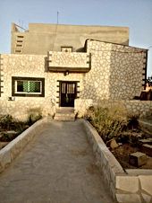 بيت طابقين عمار جديد مساحة الأرض 512متر مساحة البناء كل طابق 100متر