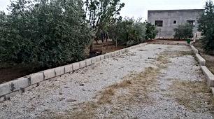 بيت على ارض مساحتها دونم مشجره بجميع انواع الاشجار