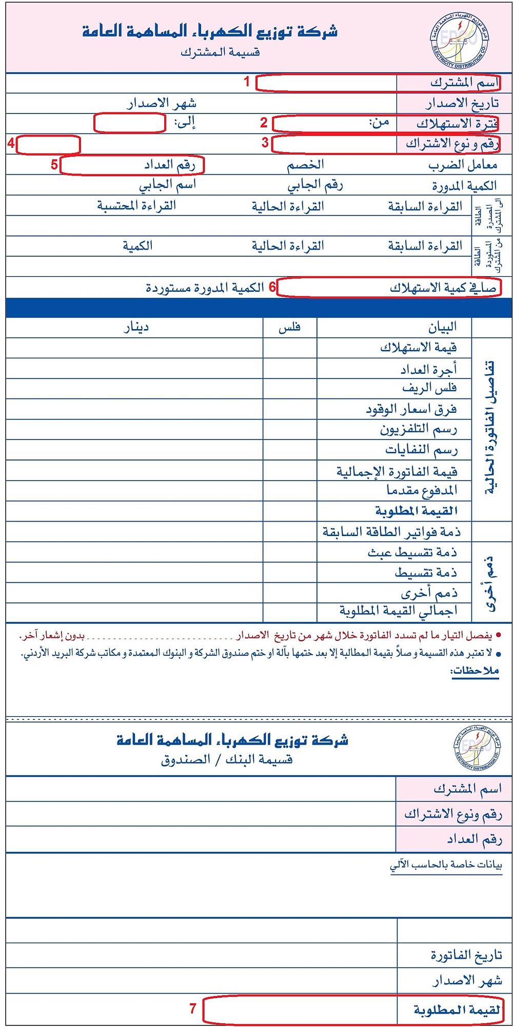 فاتورة الكهرباء في الأردن