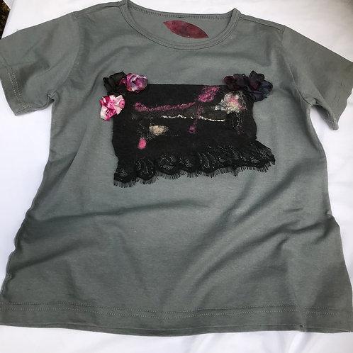 """Camiseta feminina """"Sombra fucsia"""""""