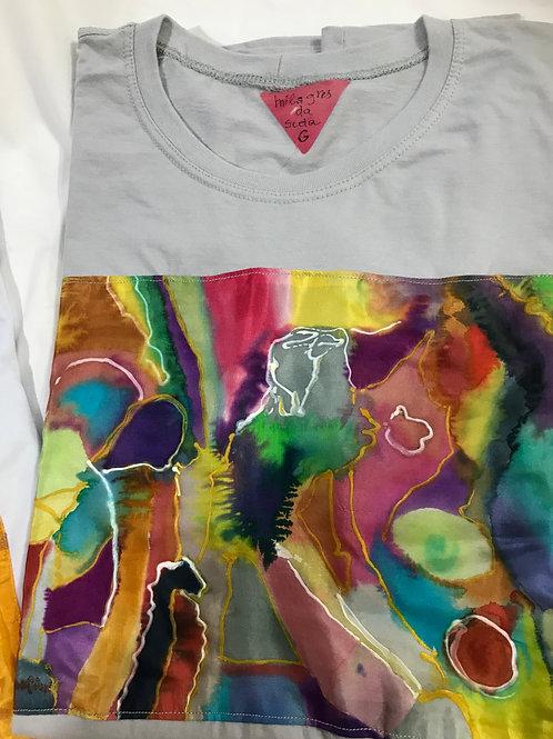 """Camiseta feminina """"Balade à Paris"""""""