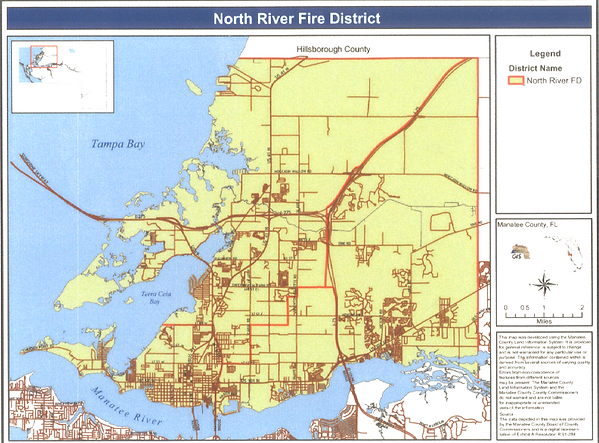 Map of North River Fire District