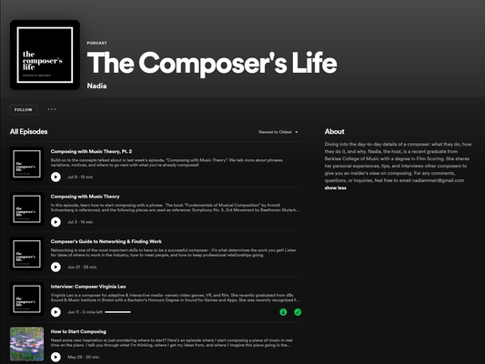 Podcast - The Composer's Life Interview
