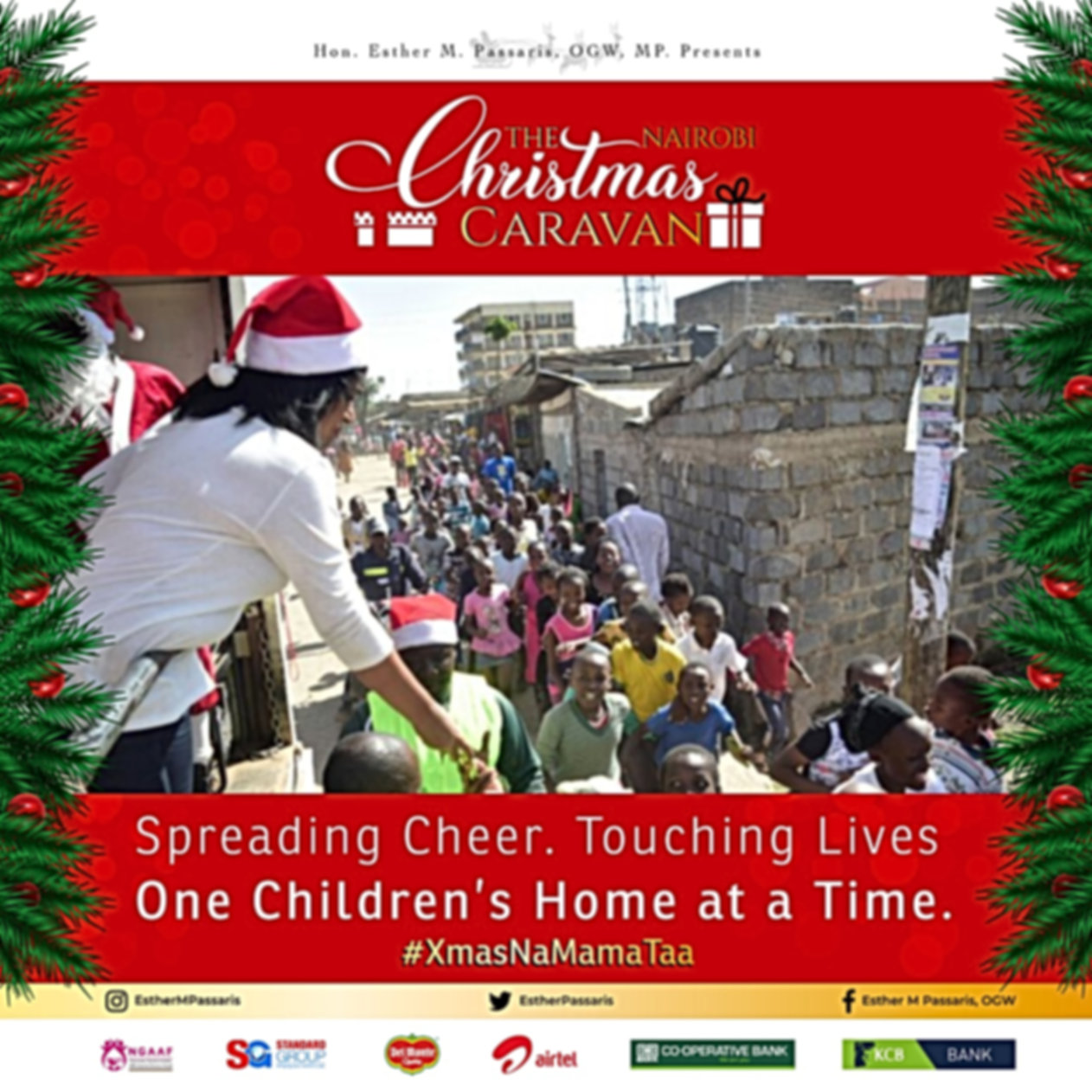 2019 christmas caravan courtey of Hon. Esther M Passaris