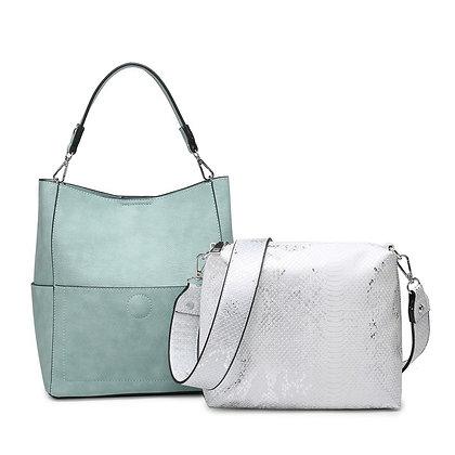 Abby Teal w/ Snake Print Bag