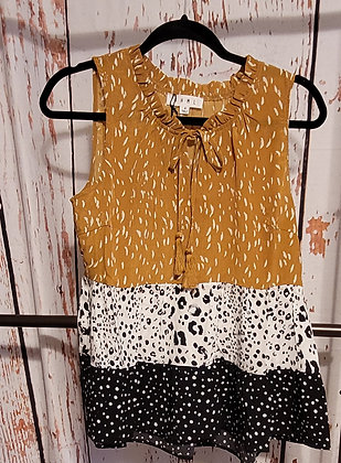 THML Tiered Mixed Print Top