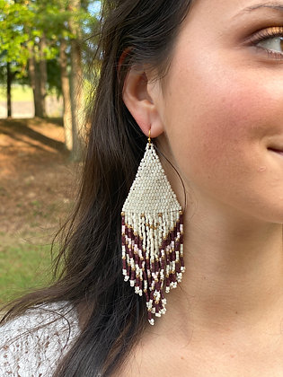 Bead Fringe Earrings