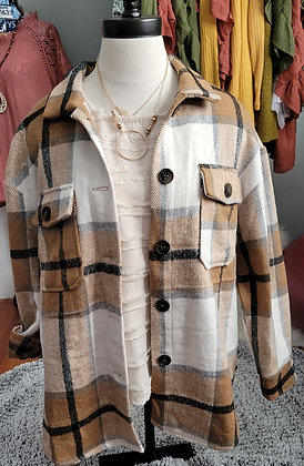Checkered Button Down Jacket