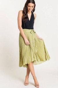 High Waisted Wrap Skirt