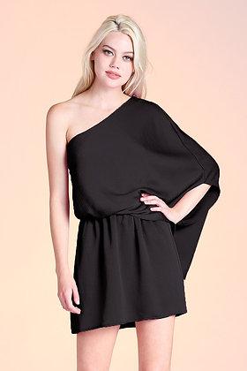 One-Sleeve Dress in Black