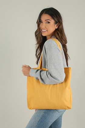 Small LINEN YELLOW TOTE