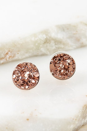 Nugget Studs -Rose Gold