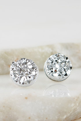 Nugget Studs -Silver