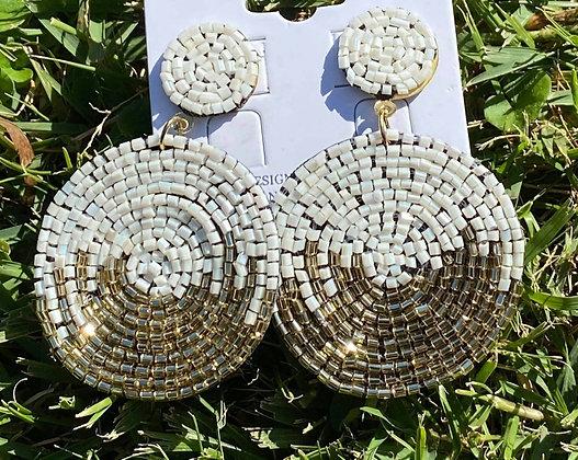 Beaded Earrings  - IVORY