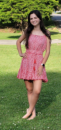 Red/White Mini Dress