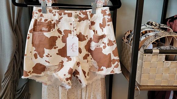 Cow Print Shorts
