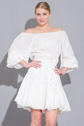 Trendy & White Mini Dress