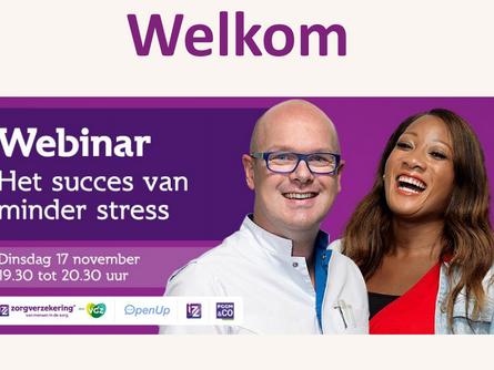 Webinar 'Het succes van minder stress' - Zorgmedewerkers