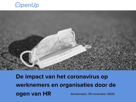 November 2020 | De impact van het coronavirus op werknemers en organisaties door de ogen van HR
