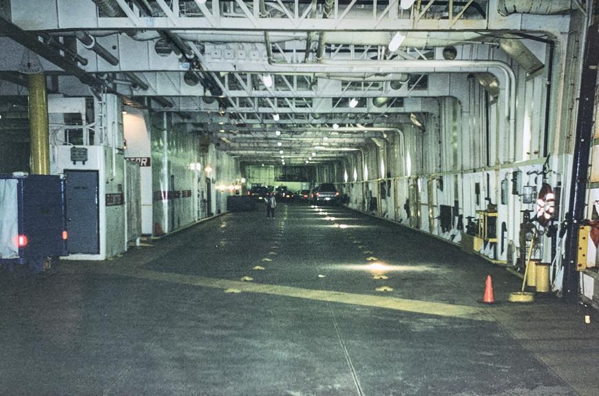 Car Deck of an Alaska Marine Highway Ferry