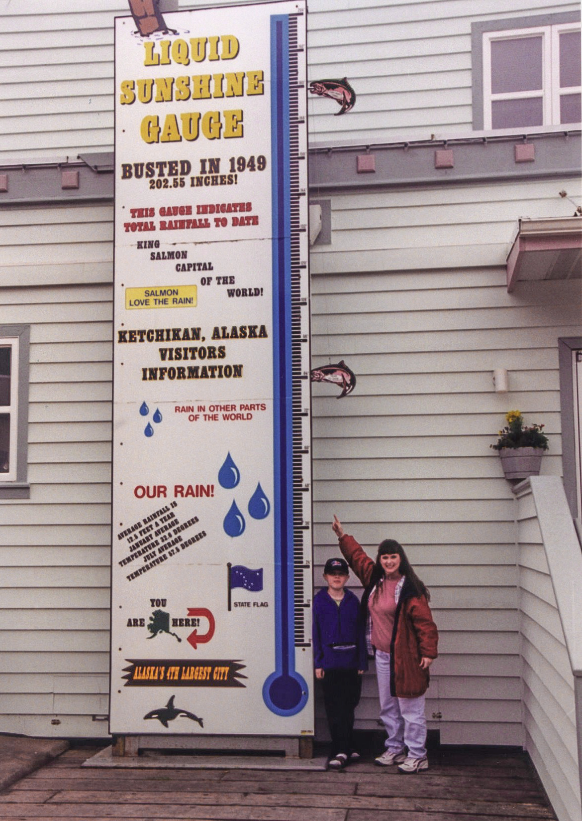 Melissa and Ethan Cook at Rain Gauge