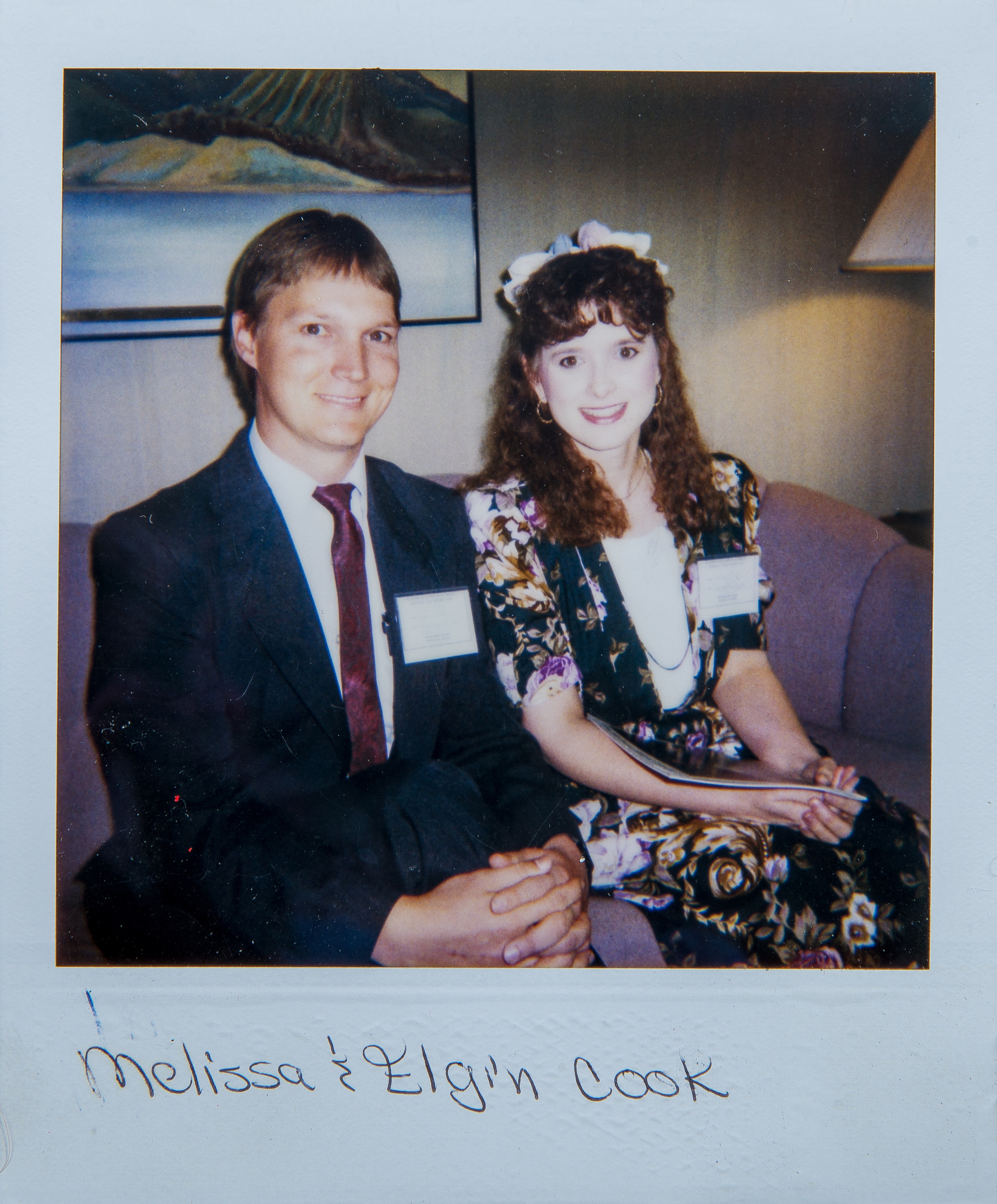 Elgin & Melissa Cook - Interview Photo in 1995