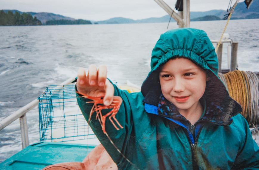 Ethan Cook (7) Shrimping Near Craig