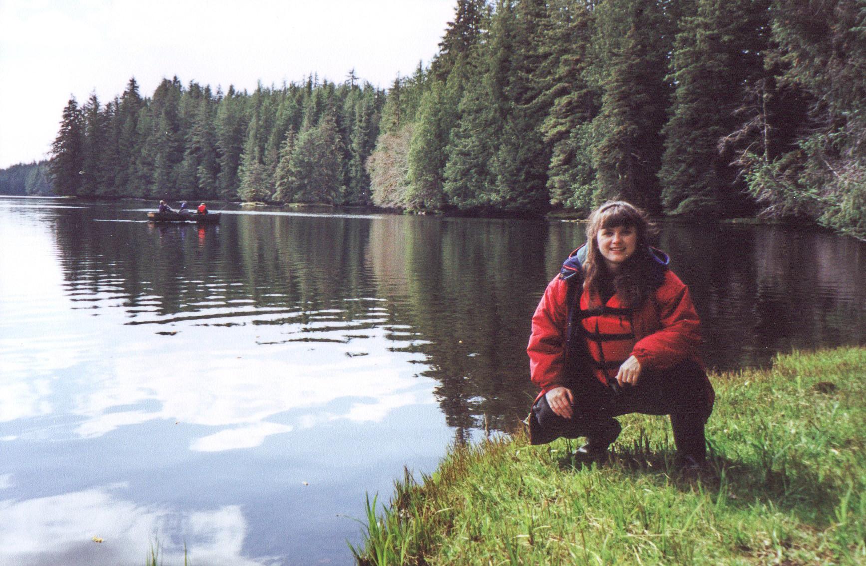 Melissa Cook at Sarkar Lake