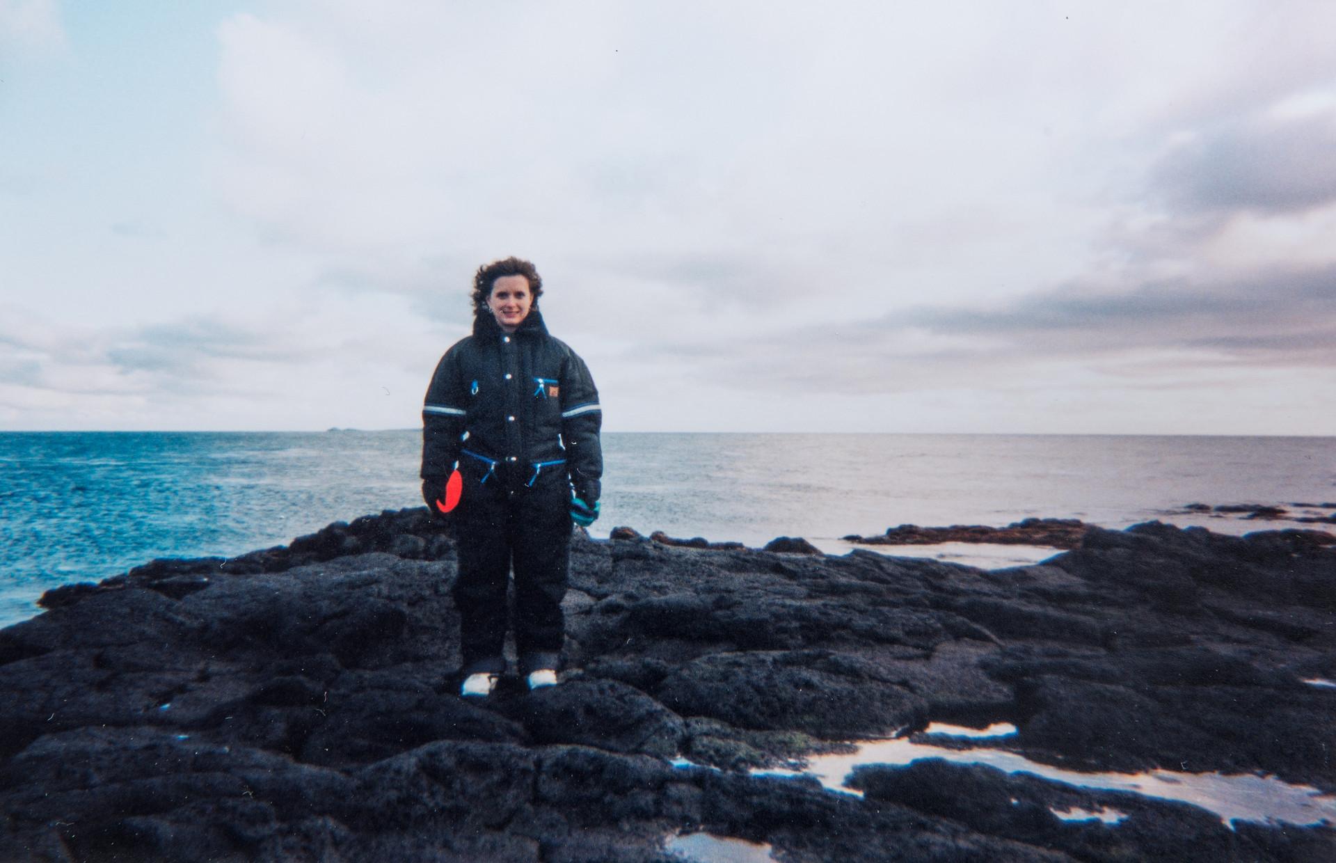 Melissa Cook in the Pribilof Islands
