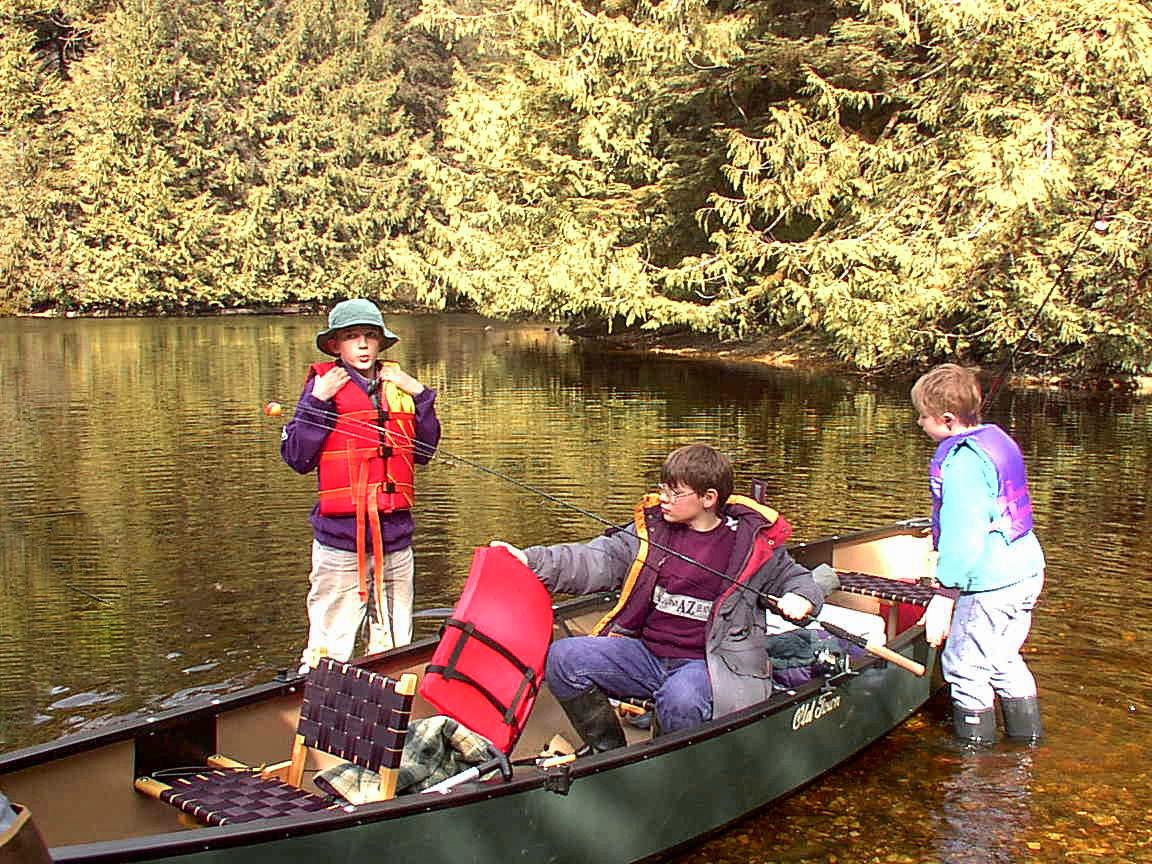 Sutton, Everett, Ethan Cook at Sarkar Lake