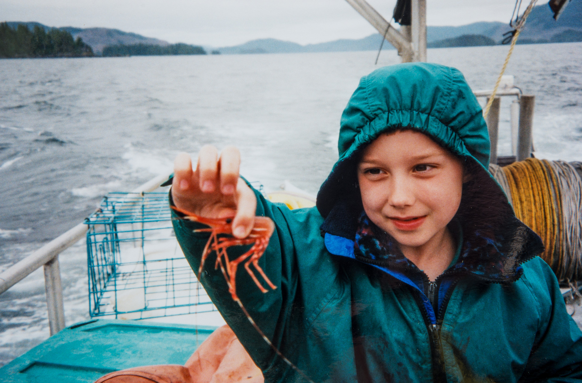 Ethan Cook with Shrimp