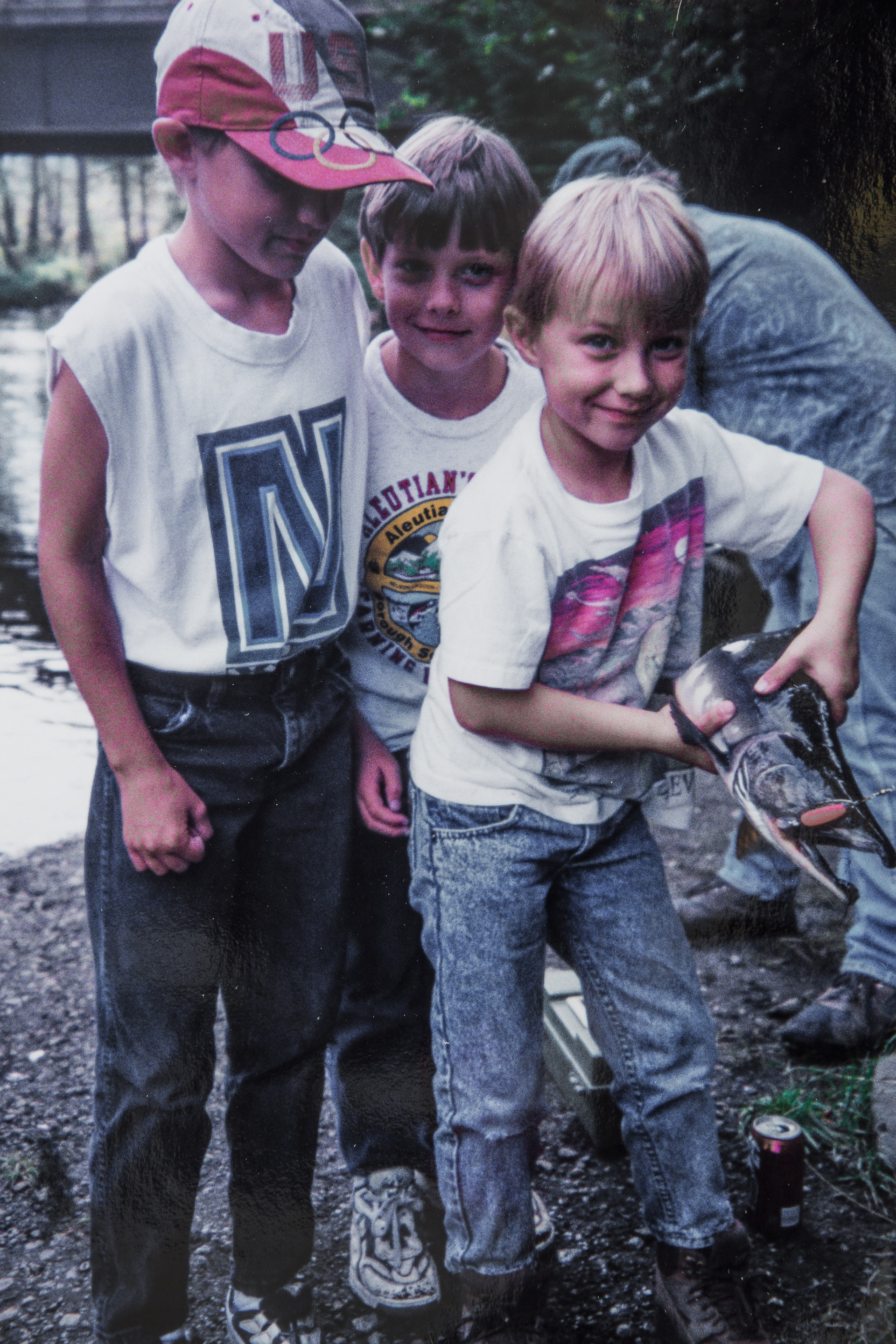 Sutton, Everett, Ethan Cook with Salmon