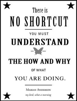 No shortcut...