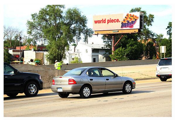 World Piece, Billboard by June Bisantz, Detroit, Michigan