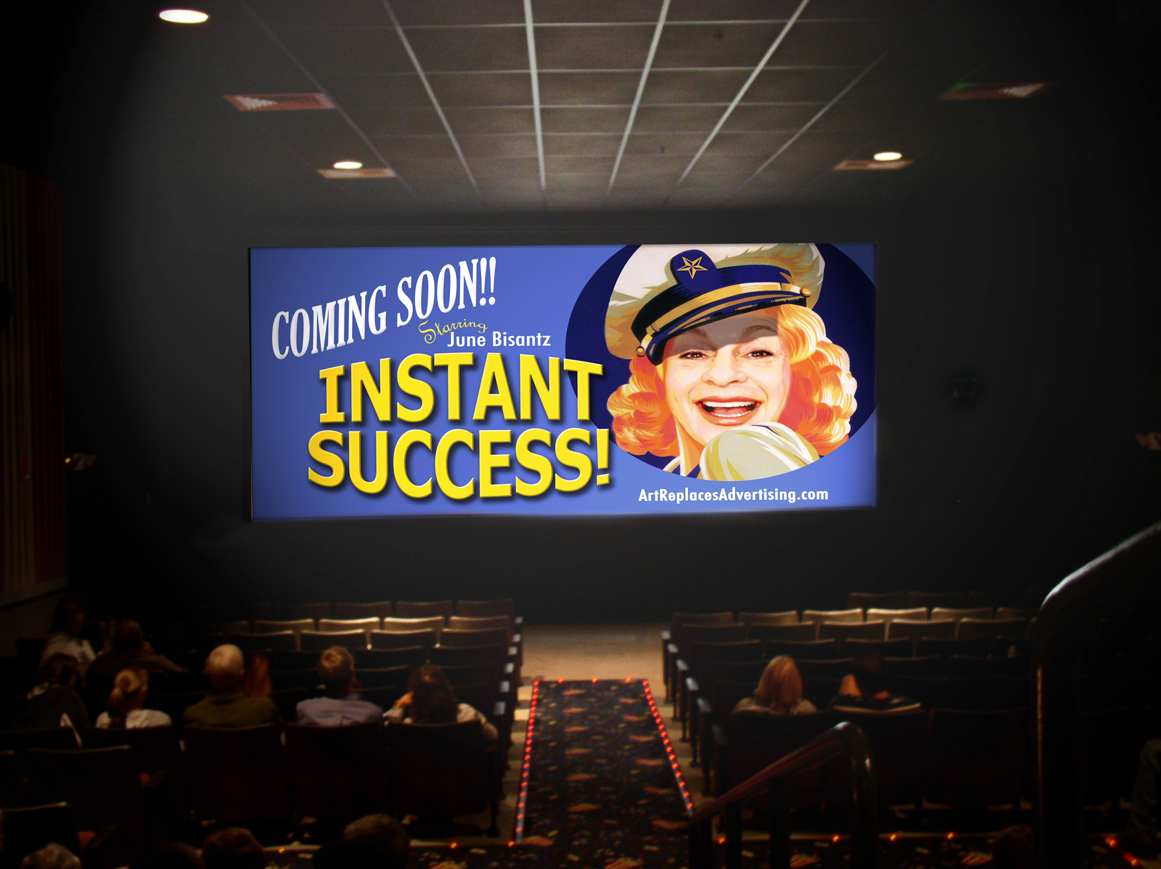 Instant Success - on the screen