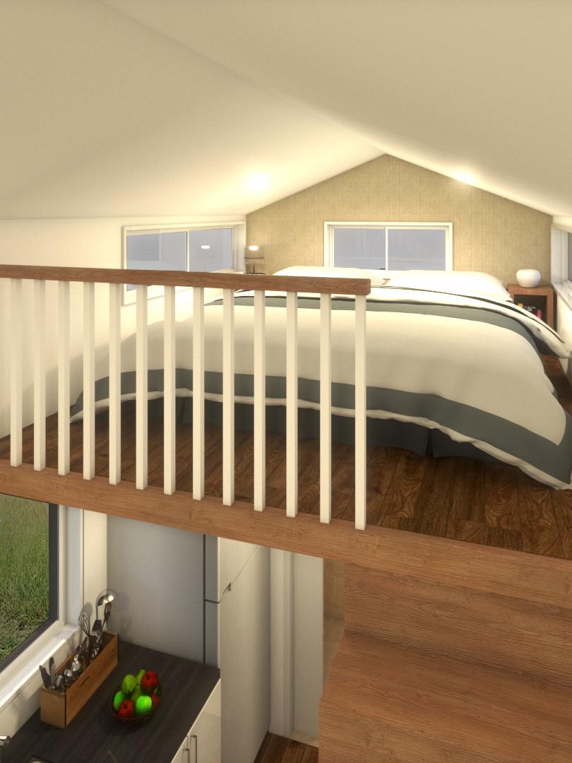 Minimalist Tiny House by Big Tiny Loft Bed