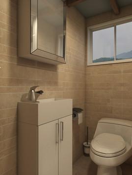 Minimalist Tiny House by Big Tiny Bathroom