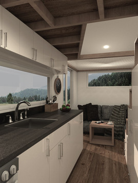 Traveller Tiny House Fully Furnished Kitchen by Big Tiny