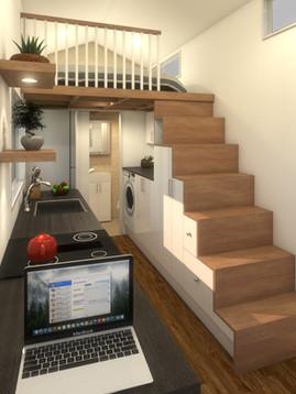 Minimalist Tiny House by Big Tiny Loft Staircase